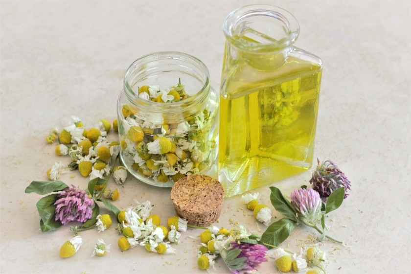 chamomile oil belly compress